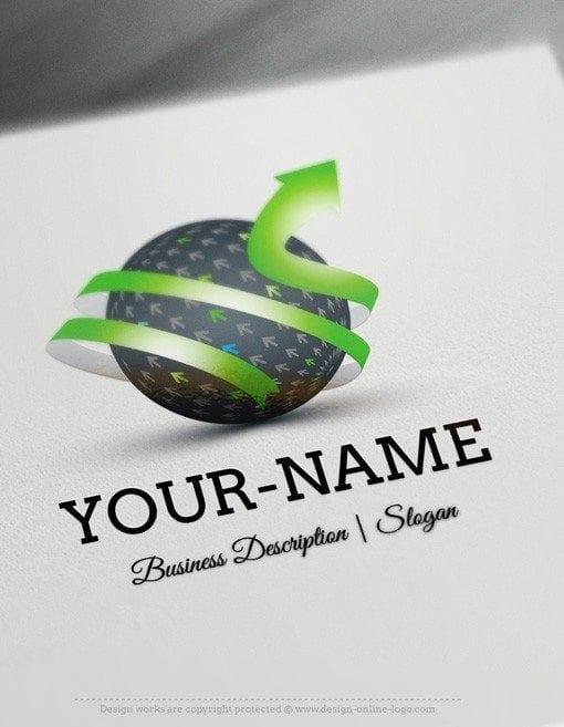 Design free logo online 3d globe logo template for Logo 3d online